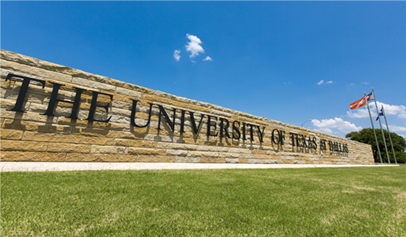 The University of Texas at Dallas sign